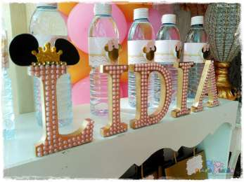 Gold Princess Theme Birthday Party Decoration 5