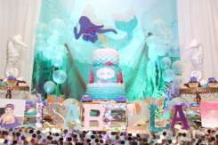 Little Mermaid Theme Birthday Party Decoration
