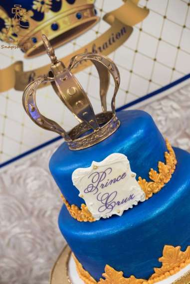 Royal Prince Theme Baby Shower Cake 2