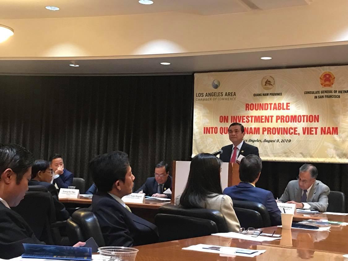 Tham dự hội nghị xúc tiến thương mại tỉnh Quảng Nam-LA