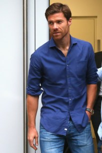 MUNICH, GERMANY - AUGUST 28: Xabi Alonso arrives for medical check at FC Bayern Muenchen's team doctor Hans-Wilhelm Mueller-Wohlfahrt office on August 28, 2014 in Munich, Germany. (Photo by Alexander Hassenstein/Bongarts/Getty Images)