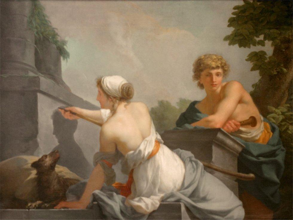 Kora y el mito del origen de la pintura