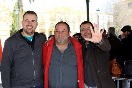 Pablo Rubén Lópes, Miguel Torrús y Cesc Farré.