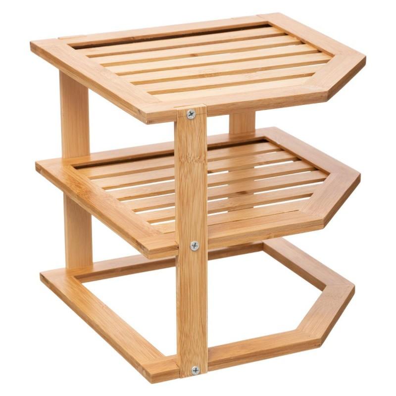 etagere d angle en bambou de cuisine naturel veo shop