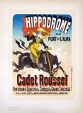 """Original """"Hippodrome"""" Poster Maitre de l'Affiche Plate 125, Jules Cheret 1899"""