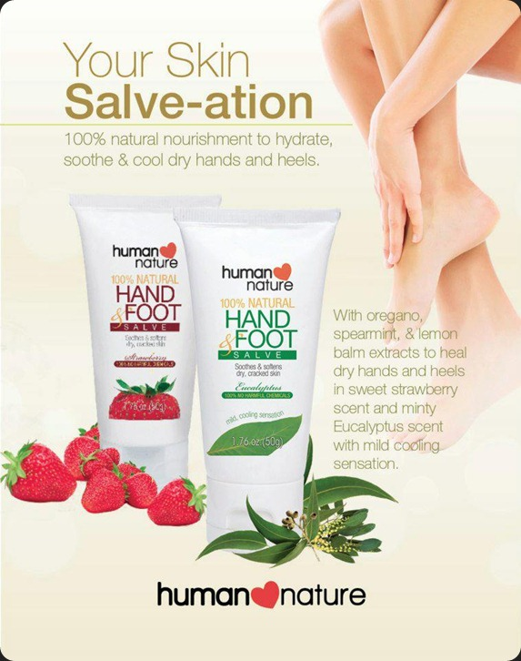 human nature hand foot salve