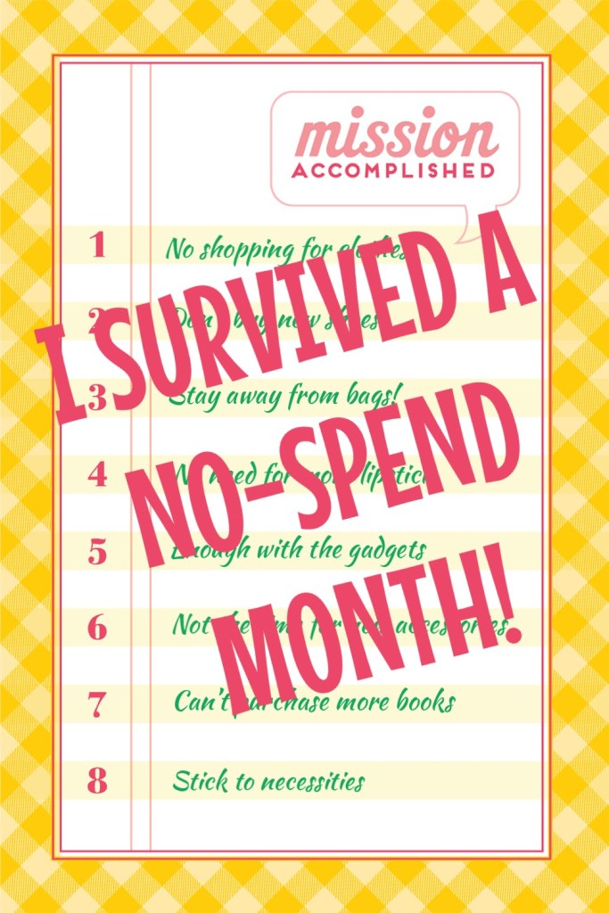 Stitches & Words | How I Survived a No-Spend Month