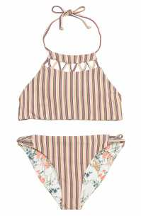 O'NEILL Sunday Floral Reversible Two-Piece Swimsuit, Main, color, VANILLA