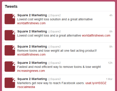 Square 2 Tweets