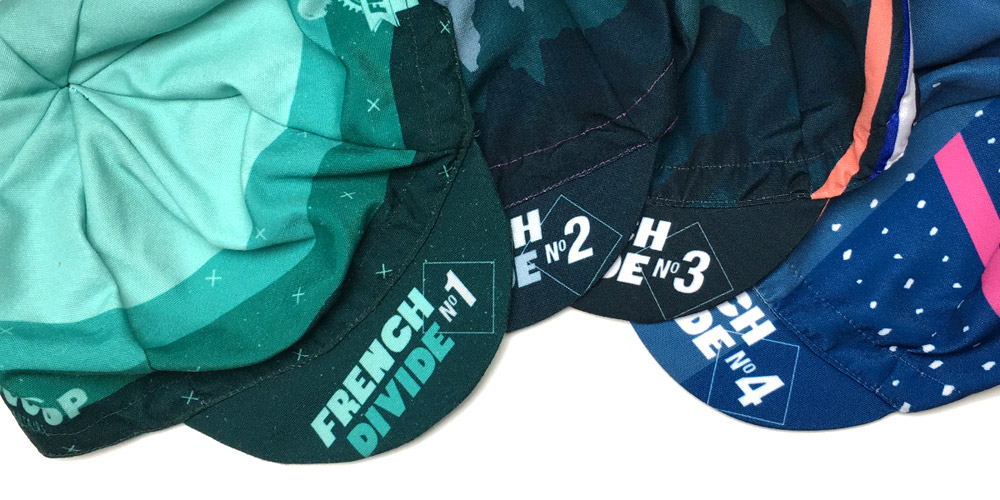 Casquettes French Divide par Vera Cycling 4 designs