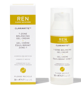 ren clarimatte t-zone balancing gel cream jar