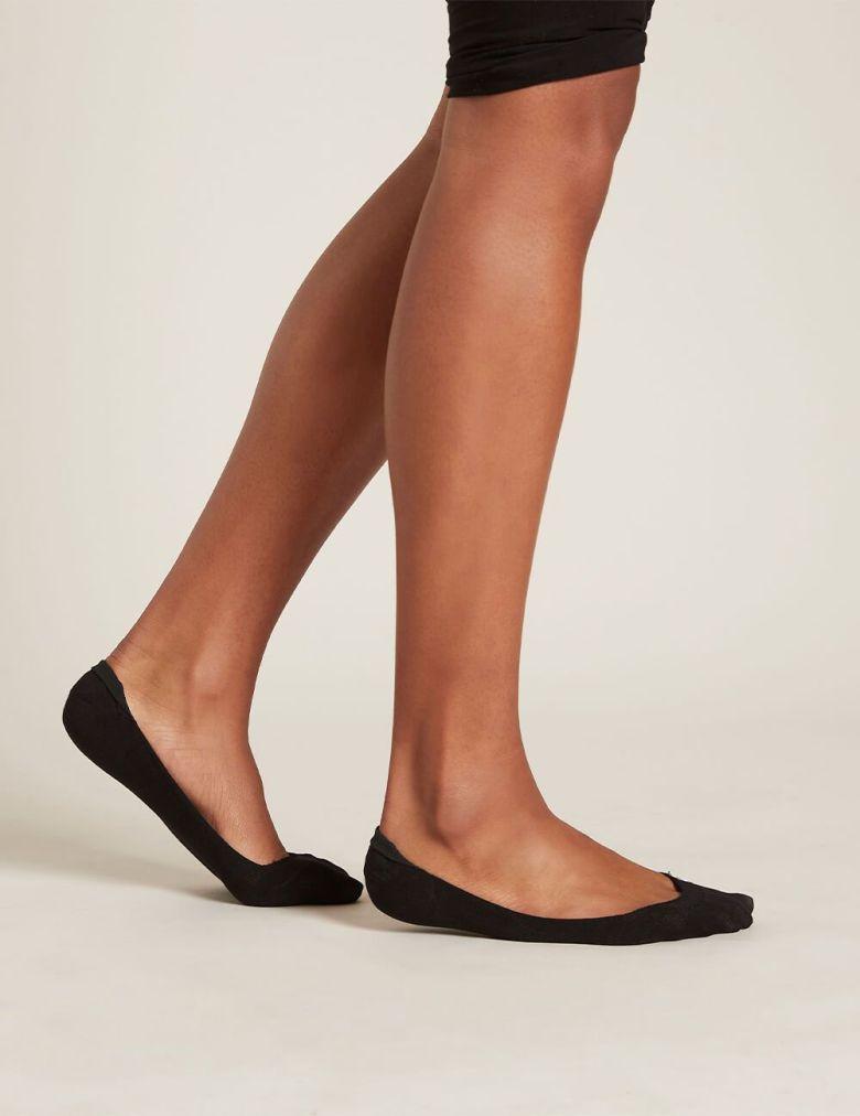 Boody Hosery Sustainable Brand low hidden black socks