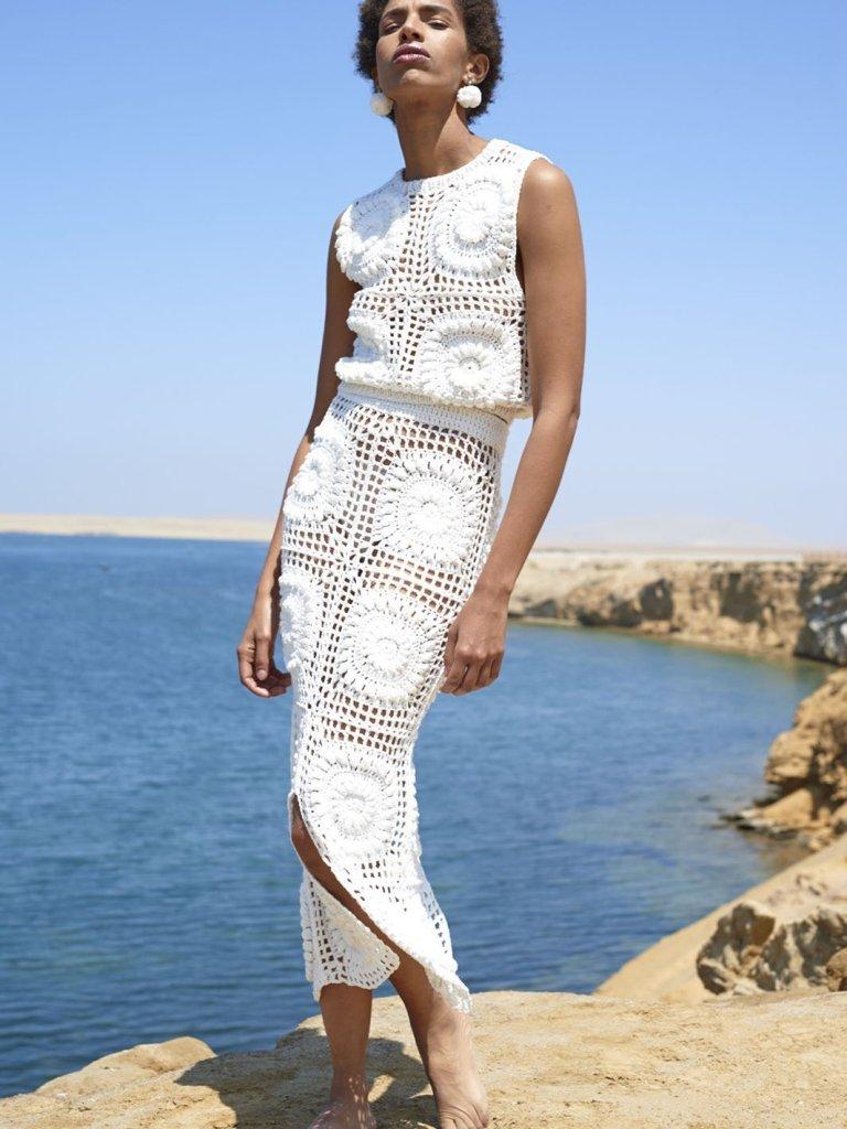 woman wearing Ayni  Zeida Top
