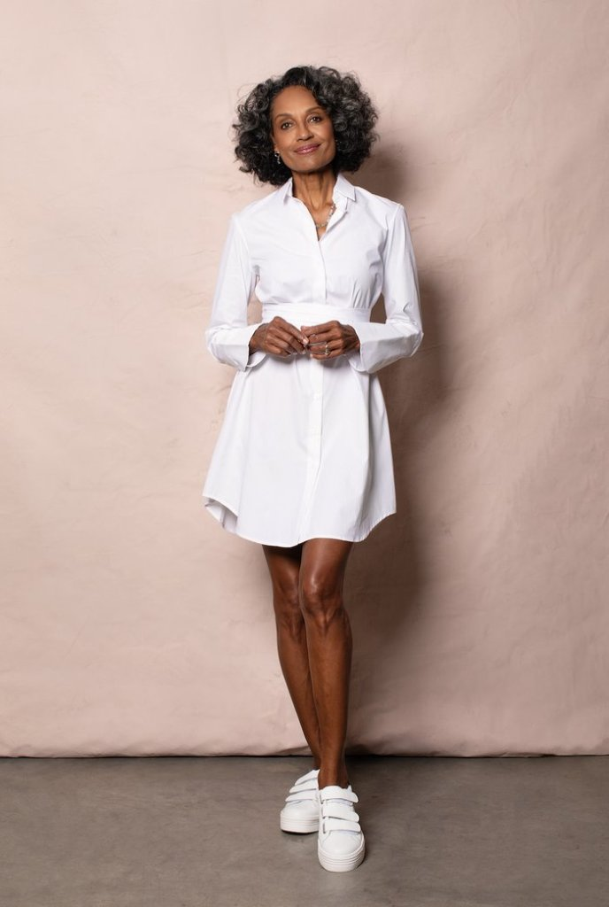 woman wearing Grammar The pronoun shirtdress