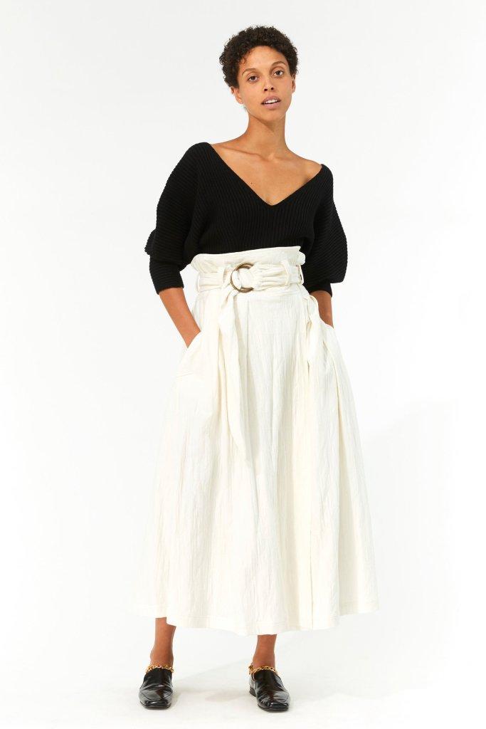 Woman wearing Mara Hoffman Esperanza Skirt