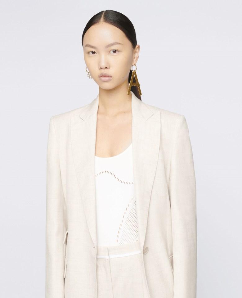 woman wearing STELLA-MAcCARTNEY-Bell-Tailored-Jacket