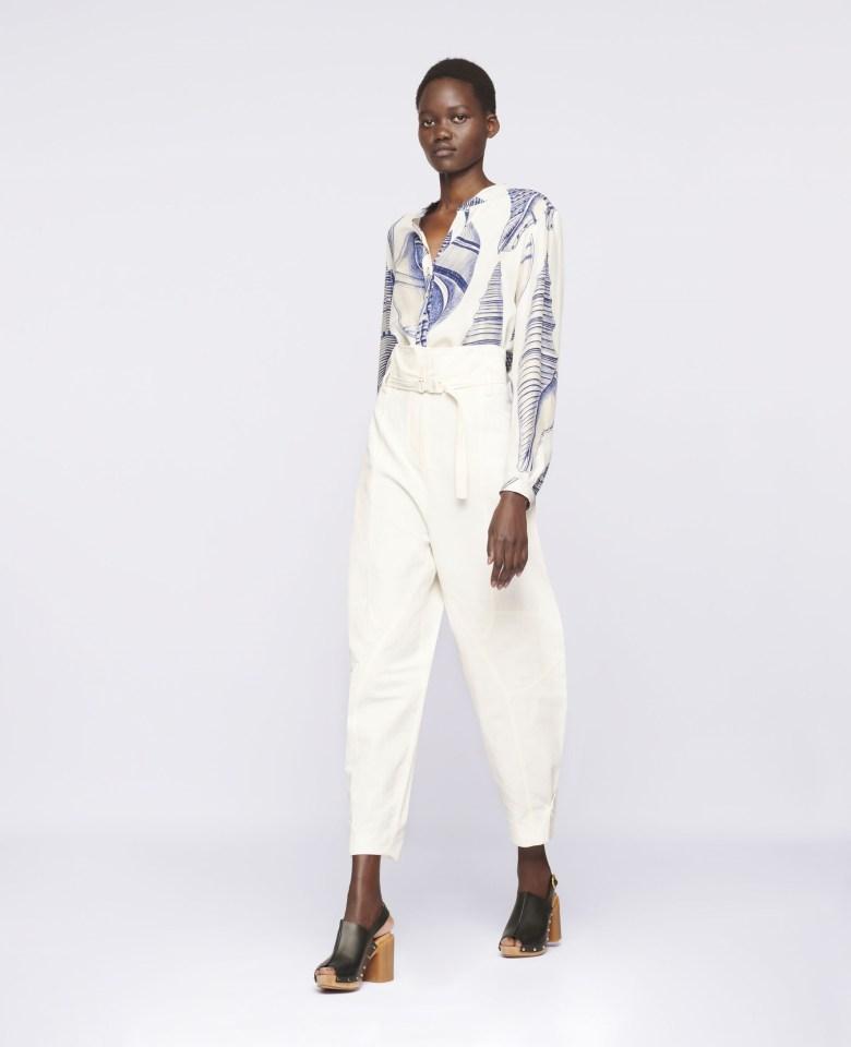 Woman wearing STELLA-MAcCARTNEY-Daisy-Tapered-Trousers