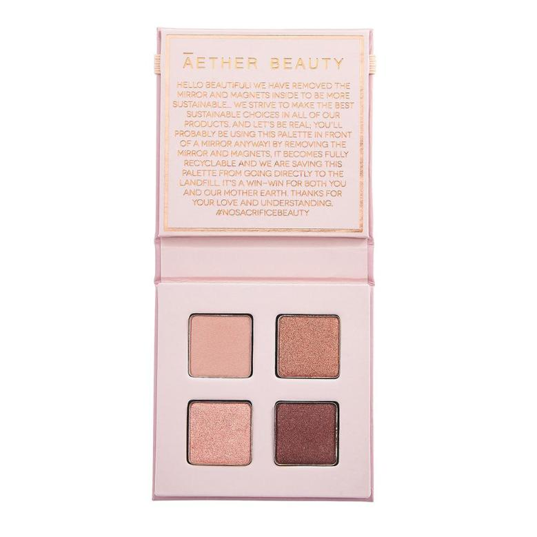 ĀTHR Beauty Pallete Ametrine Crystal Quad in pink light and dark eyeshadows