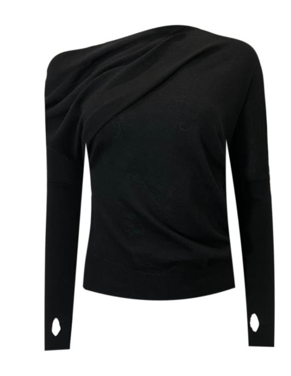Tom Ford Black Silk and Cashmere Off Shoulder Top can discover more about this item at HEWI or check it at veragallardo.com site