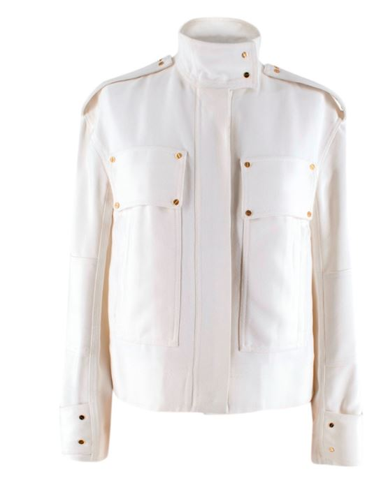 Tom Ford Ivory Military Style Jacket to find at HEWI Plataform and check it at veragallardo.com site