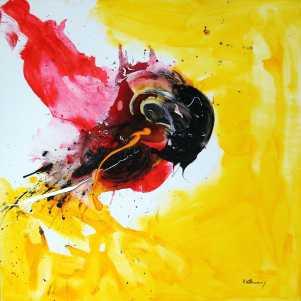 No. 383 Acrylic on canvas 100x 100cm