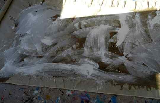 First Layer white/ Die erste Schicht Weiss