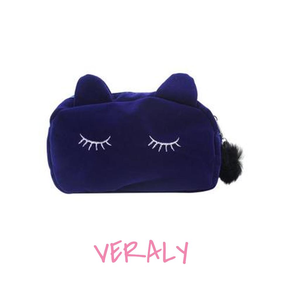 Bolso Cosmetiquera Cat Lapicera Gato Azul
