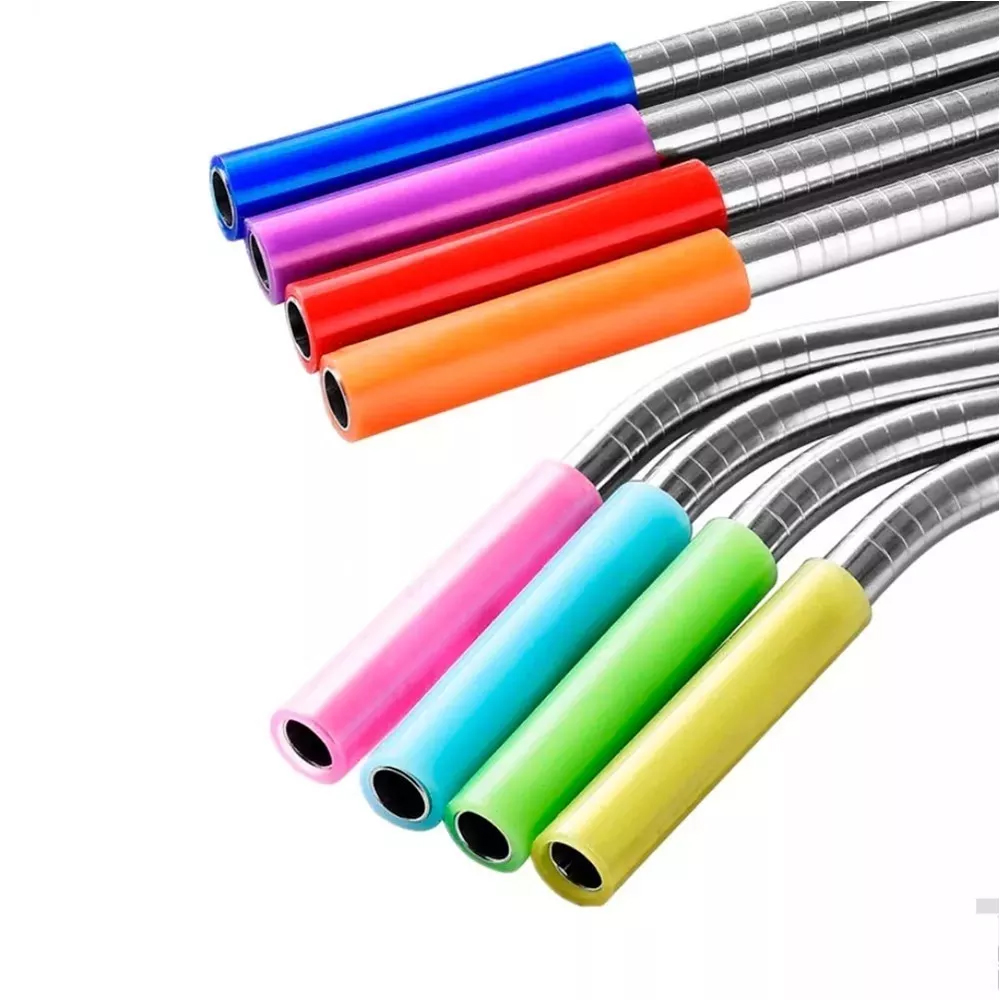 Protector Boquilla Silicona Popote Colores Ecológico 5pz