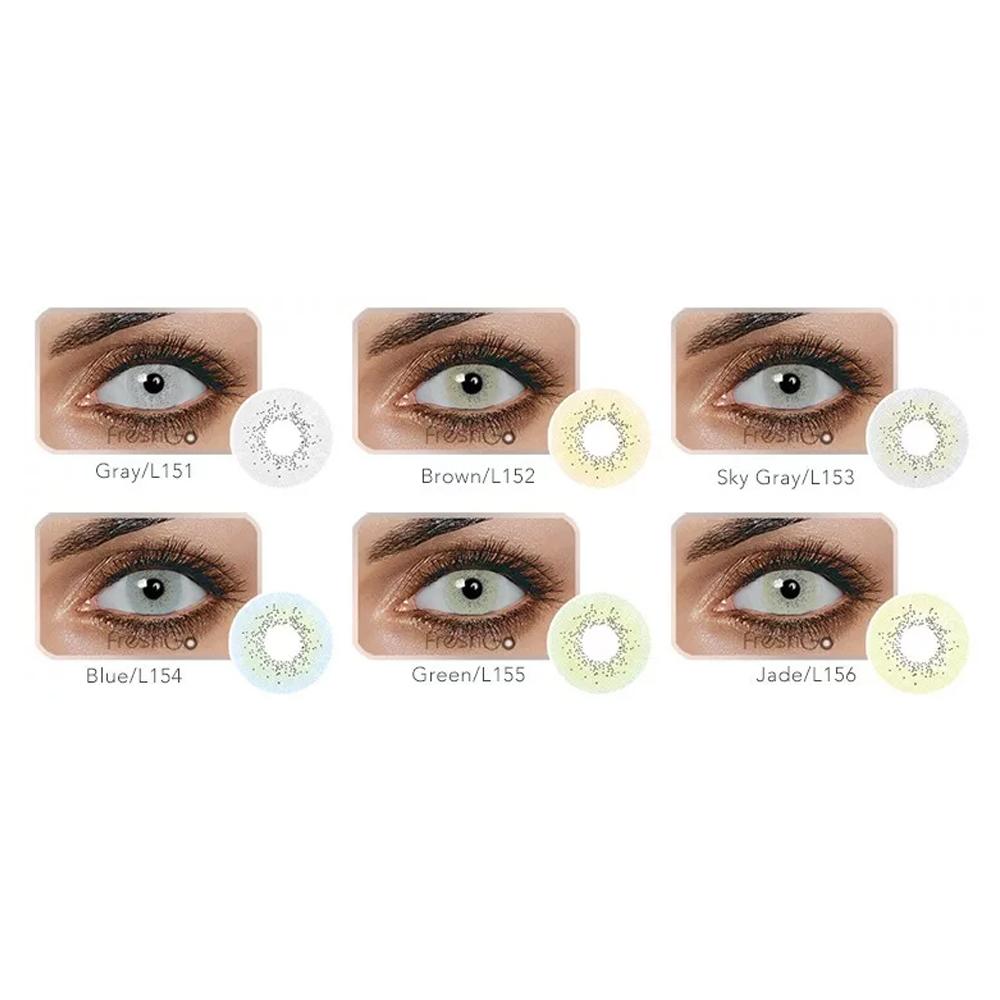 Pupilentes Freshgo Oceano De Aspecto Natural 14.20mm