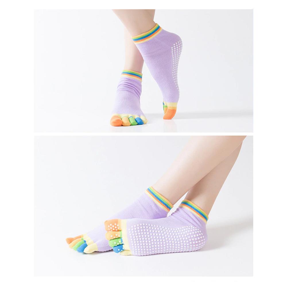 Calcetas Cinco Dedos Antideslizantes Para Yoga Hengju