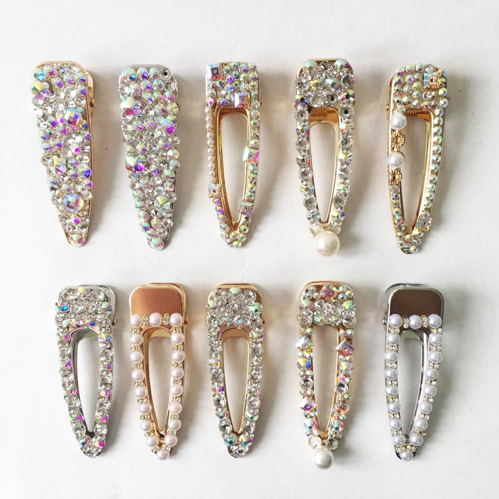Clip Pasador Con Cristales Para Cabello Elegante A La Moda Damas