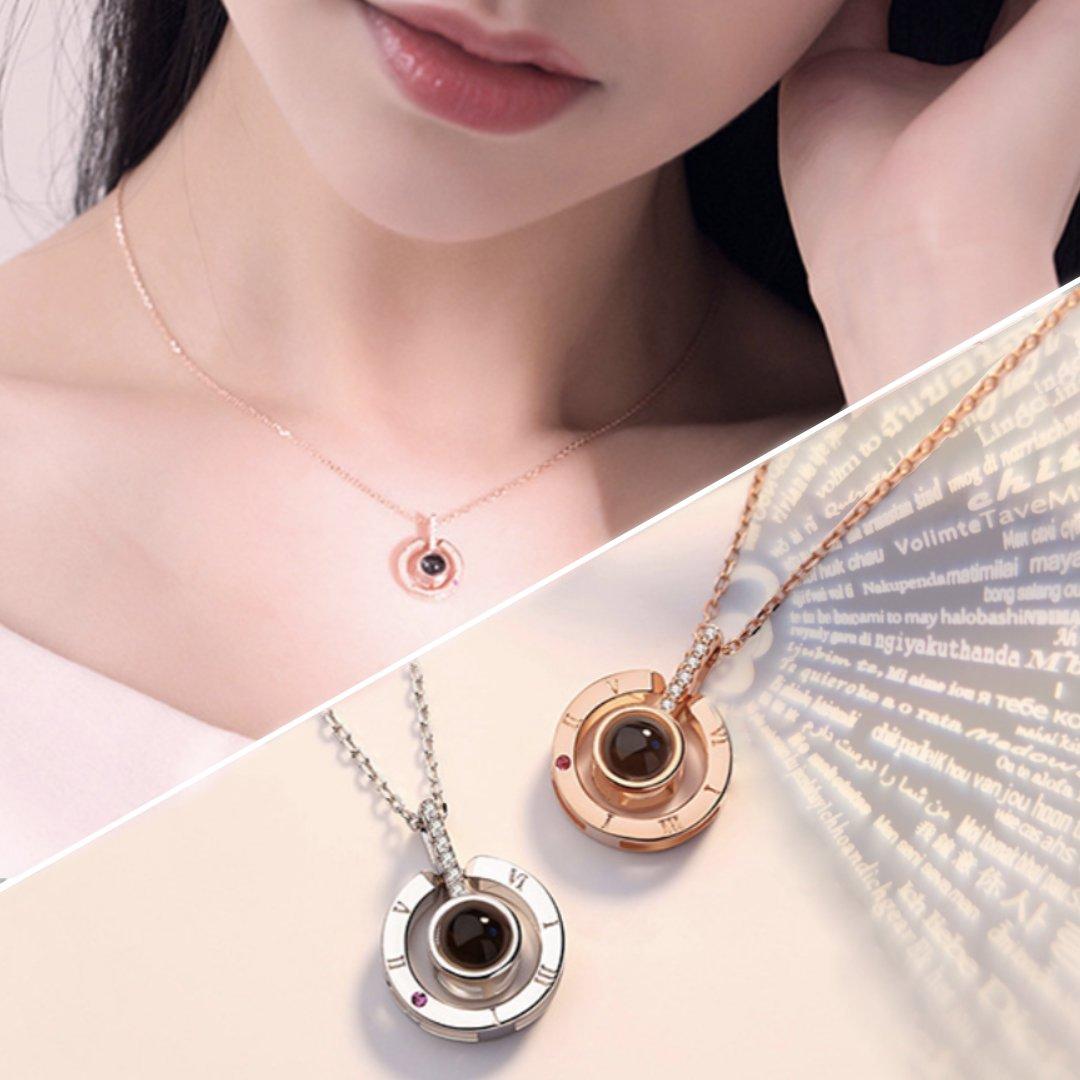 en venta 71425 b53ed Collar Proyección Te Amo en 100 Idiomas