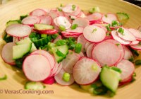Radish and Cucumber Salad/ Vegetable Salad/ Vera's Cooking/ Verascooking.com/
