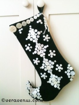 Pearly Buttons Christmas Stocking