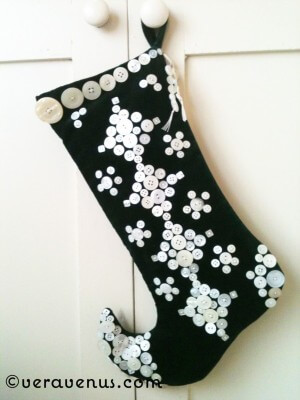 Pearly Elf Christmas Stocking