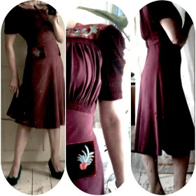 Plum 40's copycat dress