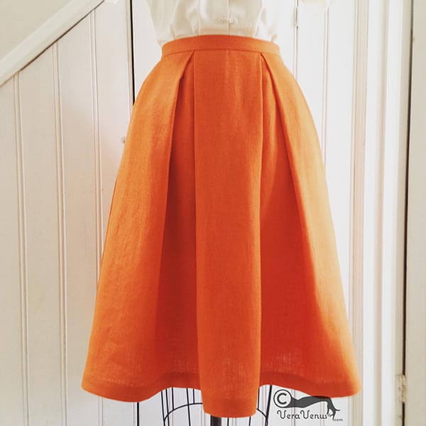 A Little Post About Making Box Pleated Skirts Sew VeraVenus Extraordinary Pleated Skirt Pattern
