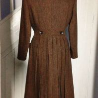 photo of brown tweed 1940s style coat