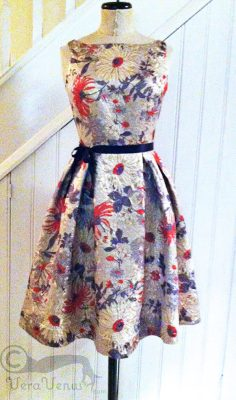 photo of brocade party dress