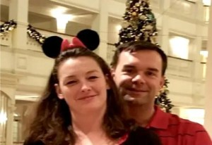 Image of Couple at Grand Floridian during Christmas