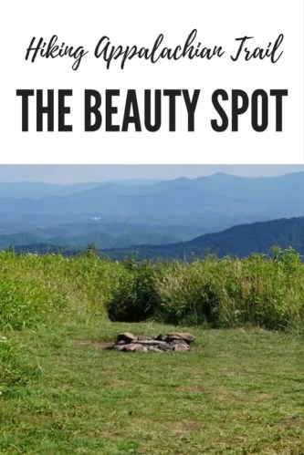 Pinterest image of the Beauty Spot in Erwin, TN section of the Appalachian Trail