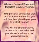 Personal Boundaries Are Important For Abuse Victims