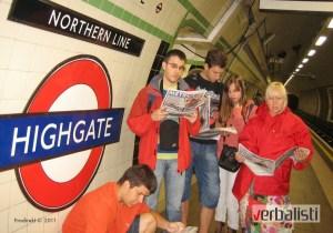 Jutarnje listanje štampe u metrou pre obilaska Londona, program My London