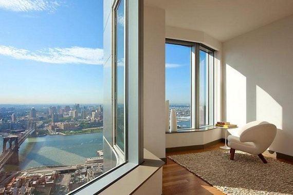 Pogled na Menhetn sa jednog od prozora