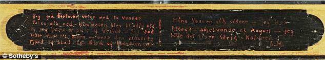 Slika Krik (The Scream) sa originalnim ramom i stihovima na njemu