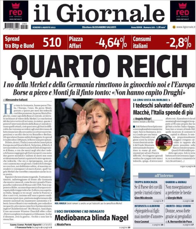 Nemačku dominaciju pod vodstvom Angele Merkel nazvali su Četvrtim Rajhom