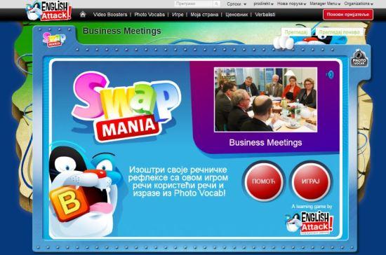Engleski za poslovne ljude, Igrica Swap Mania - Business Meetings