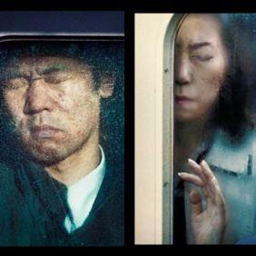 Ljudi u metrou u Tokiju