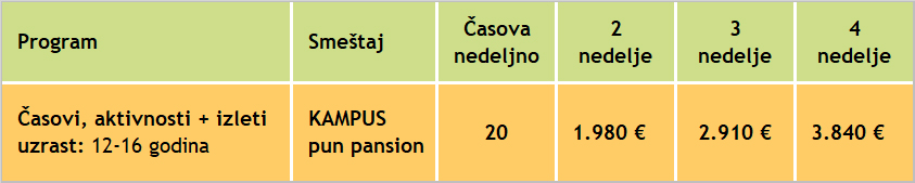 Cene letnjeg sportskog kampa nemackog jezika, 2020, Verbalisti