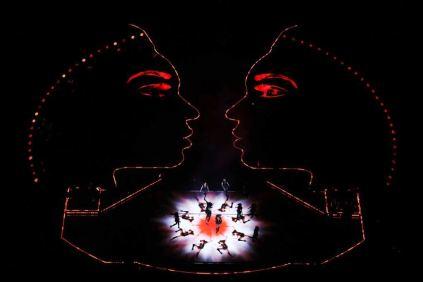 Izgled bine koja je imala oblik dva profila pevačice Bijonse spojena sa strane, foto 2